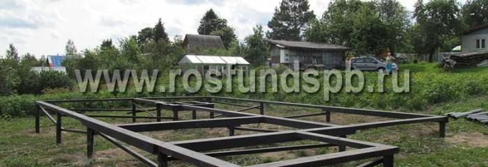Монтаж фундамента для каркасного полутораэтажного дома