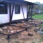 реконструкция фундамента, подъем дома